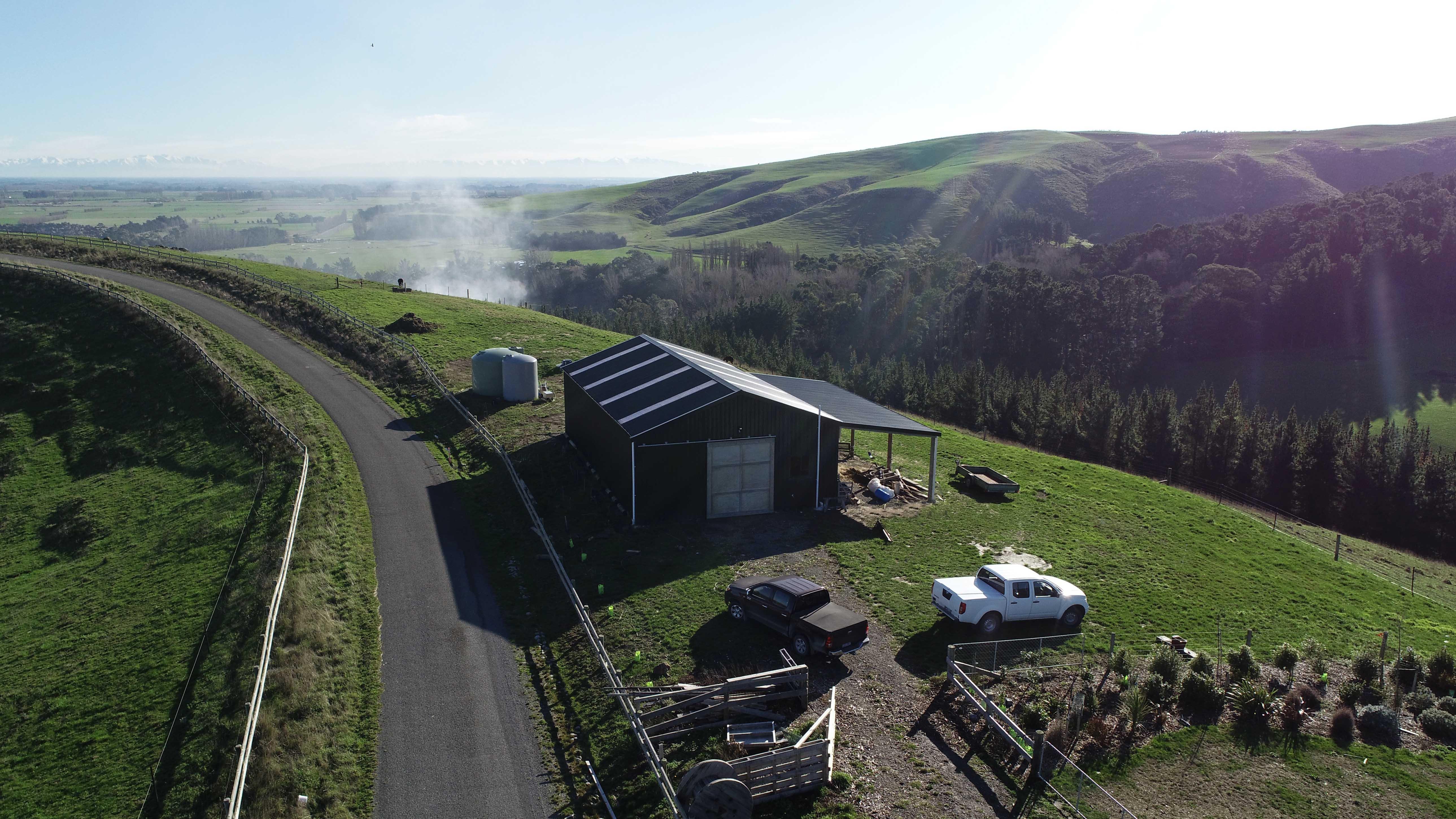 Large shed for distilling