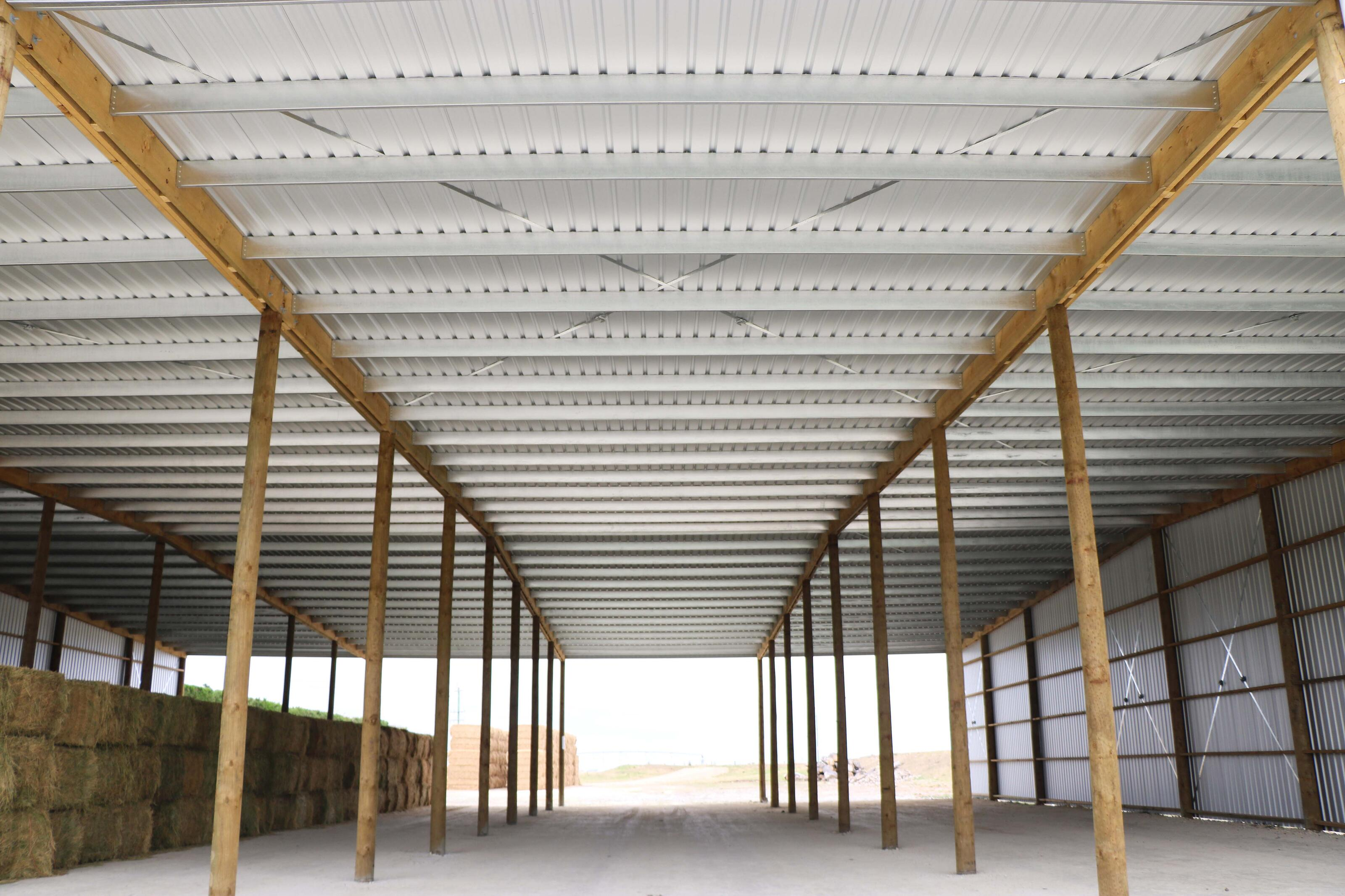 Large clearspan timber pole shed NZ
