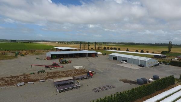 Large hay sheds for storage
