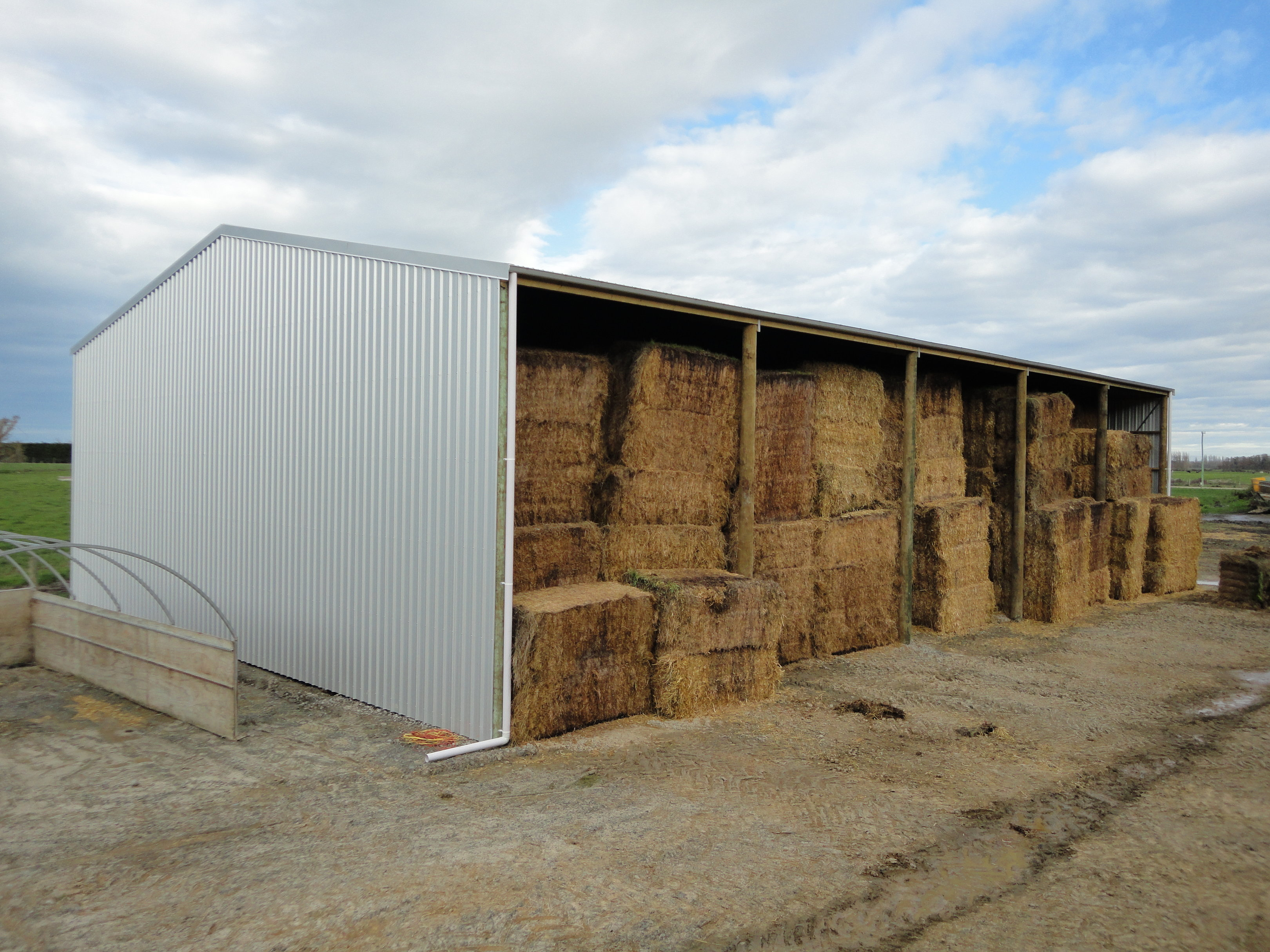 Gable hay shed kitset for sale