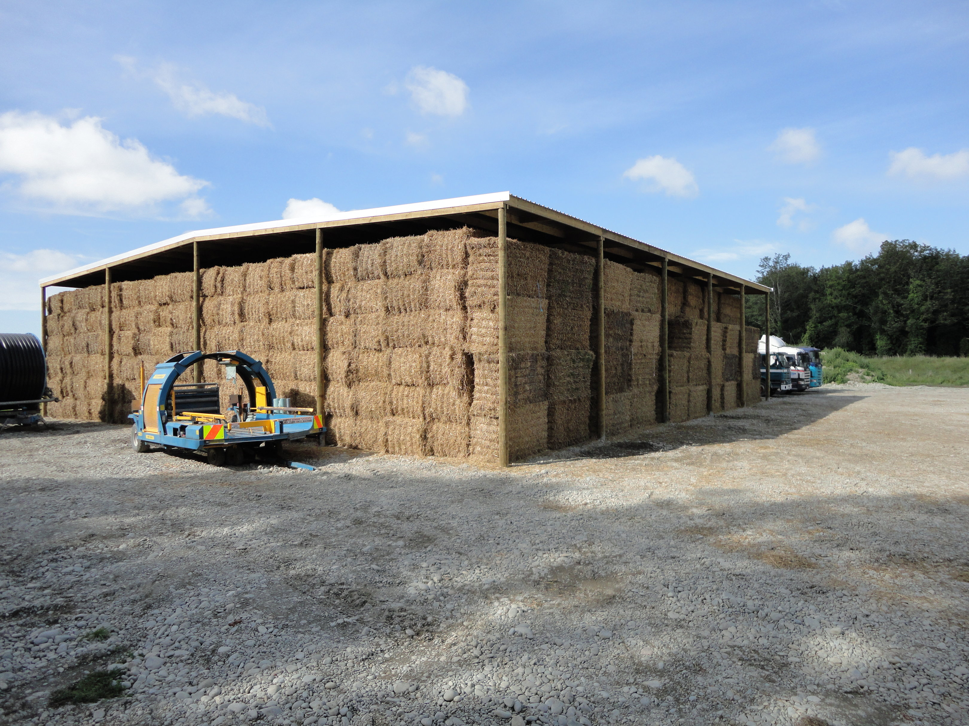 Open-sided large hay shed NZ