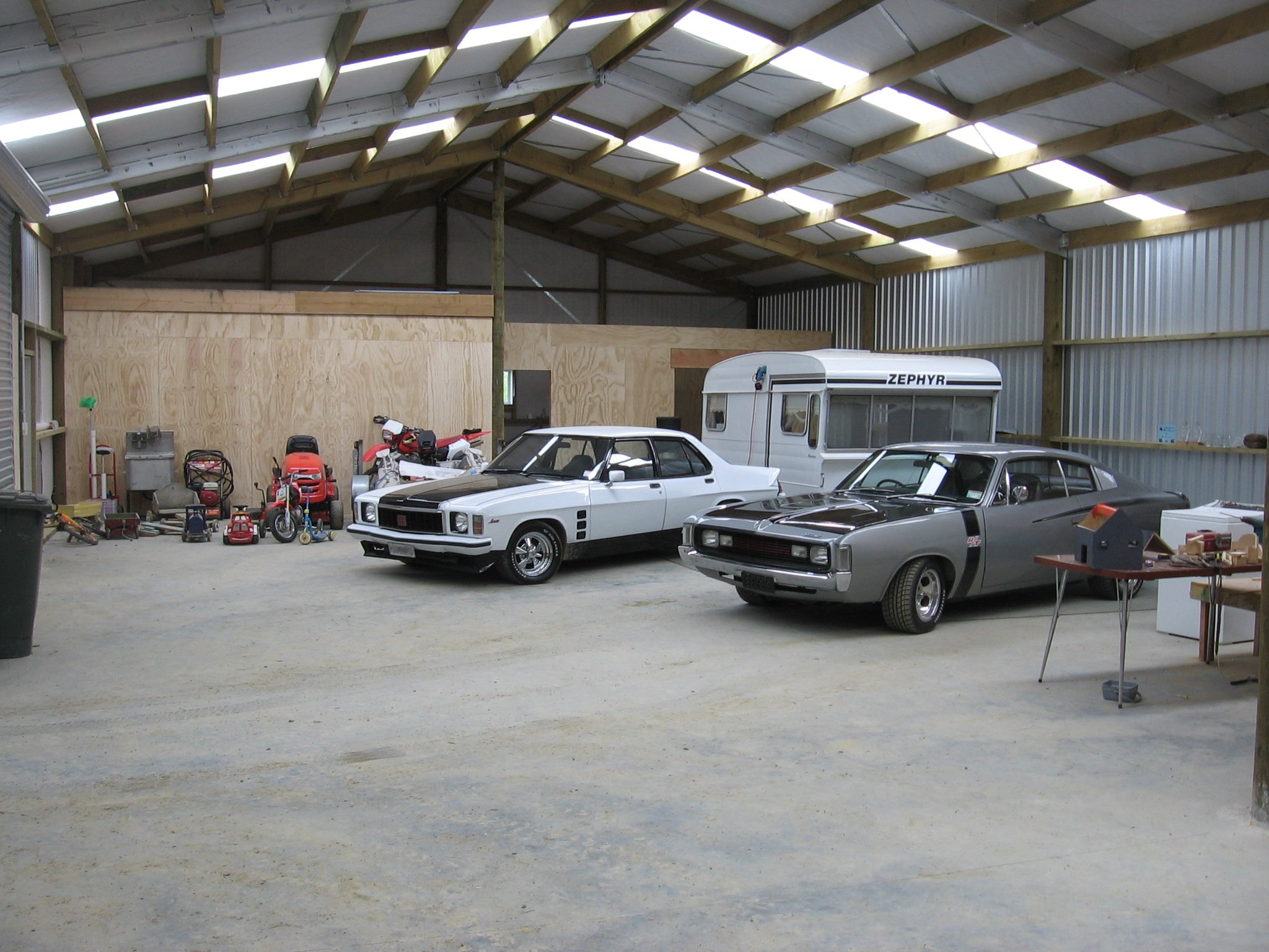 Store your car collection in your very own man shed