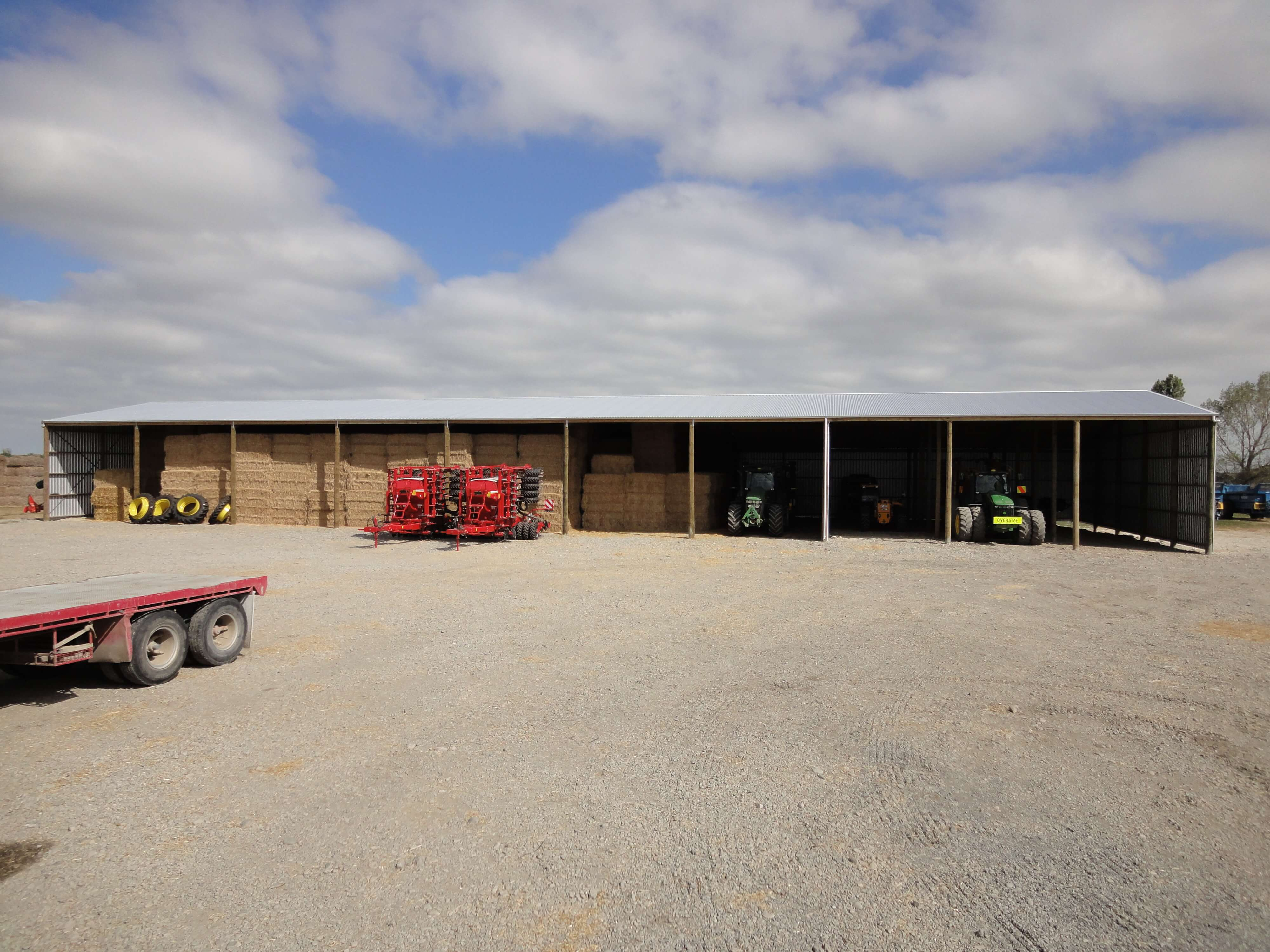 10 bay hay shed with tractor storage