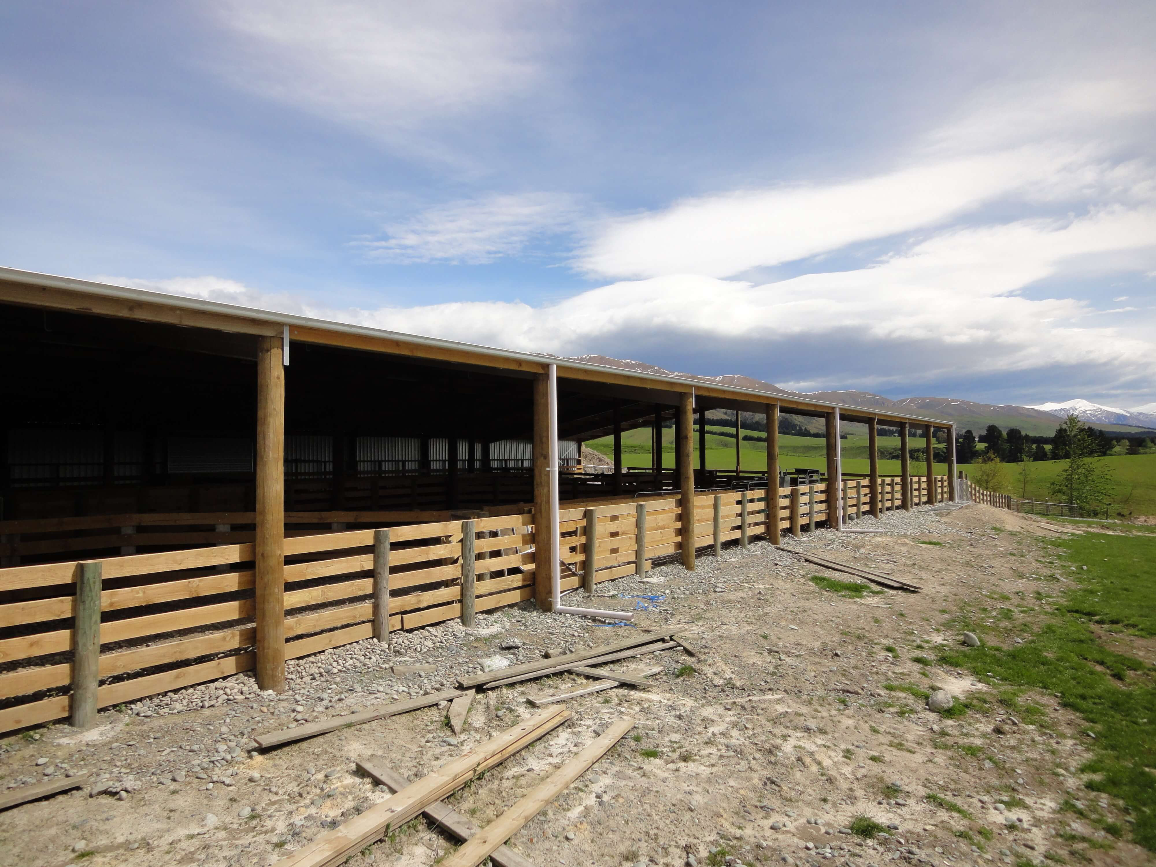 Animal health and safety is important with an Alpine animal shelter design