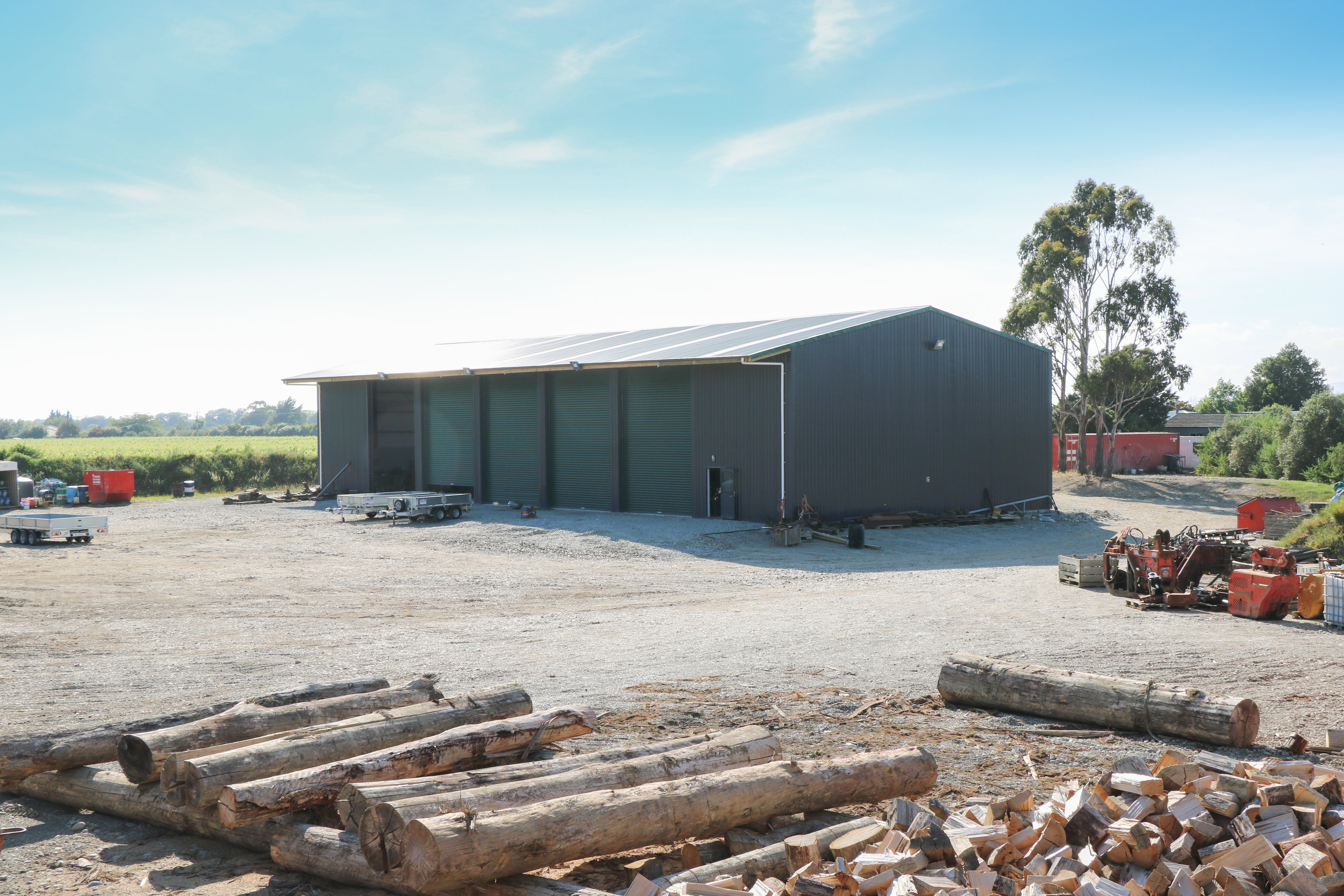 Higher and wider implement storage shed NZ