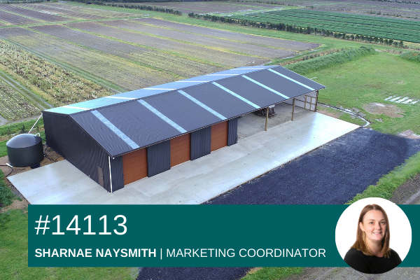 15m x 36m implement storage shed