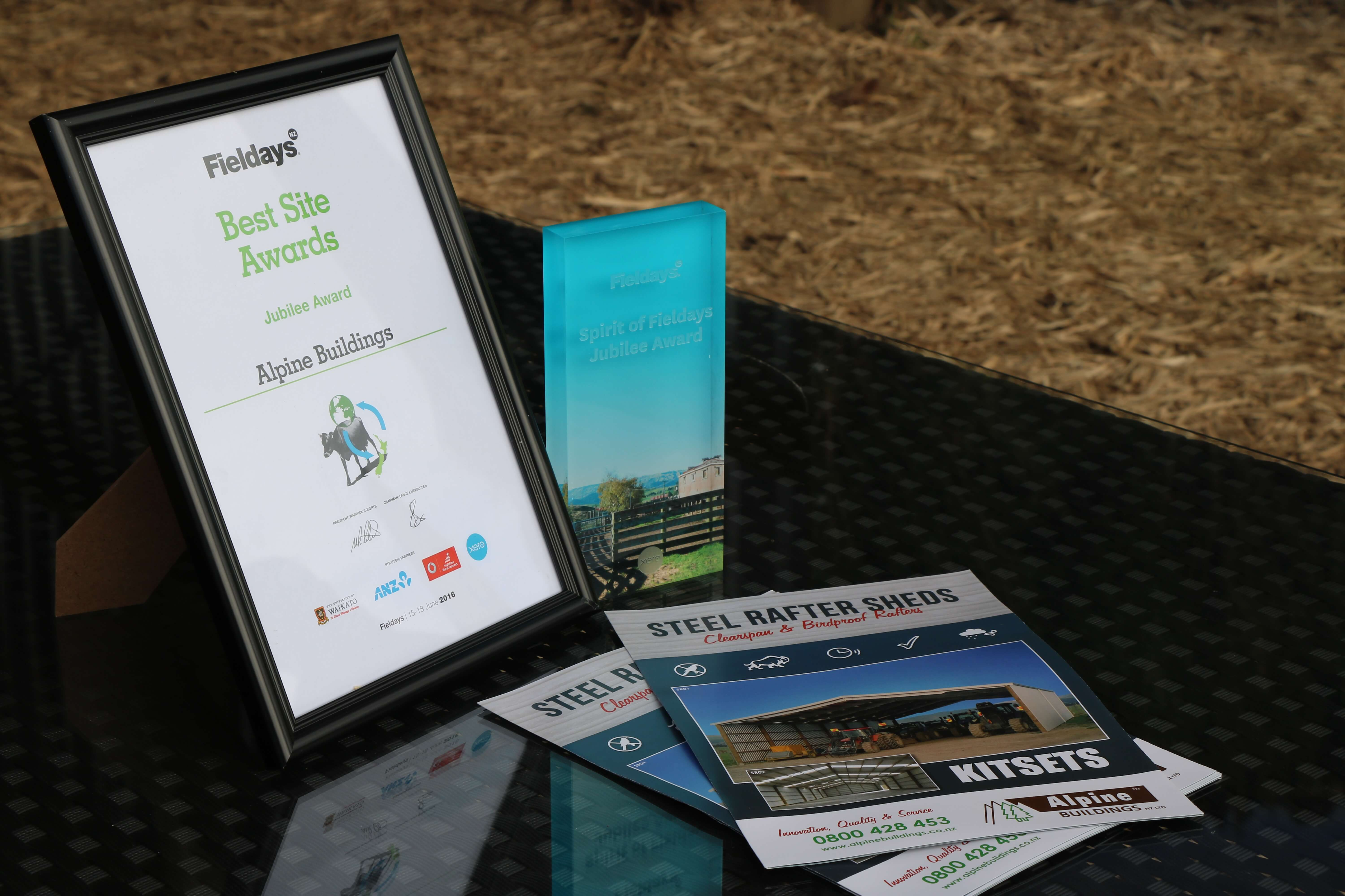 Alpine buildings wins best Fieldays site award