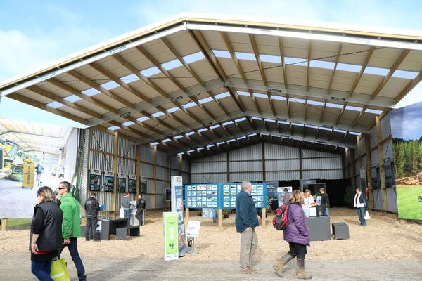 The Alpine Buildings shed on display at Mystery Creek Fieldays