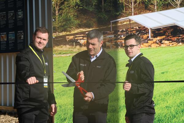 Cutting the ribbon for Alpine Buildings' debut at Mystery Creek Fieldays