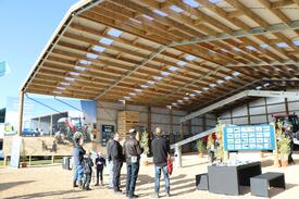 Alpine buildings at Mystery Creek Fieldays