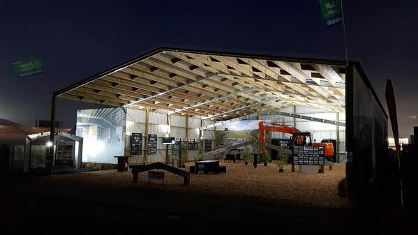 Alpine buildings Mystery Creek Fieldays set up 2018