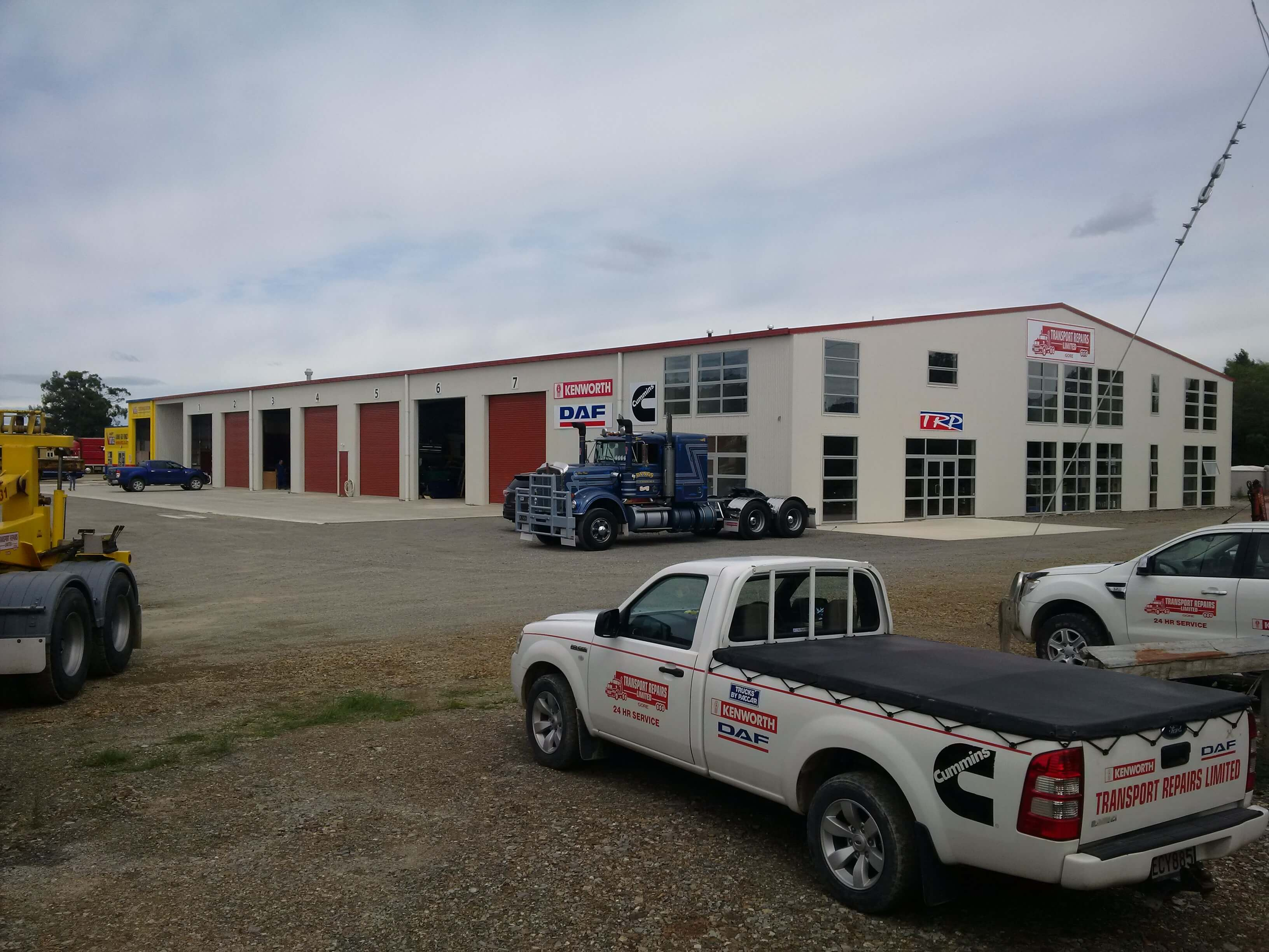 Steel structure by Alpine Buildings created for Transport Repairs LTD