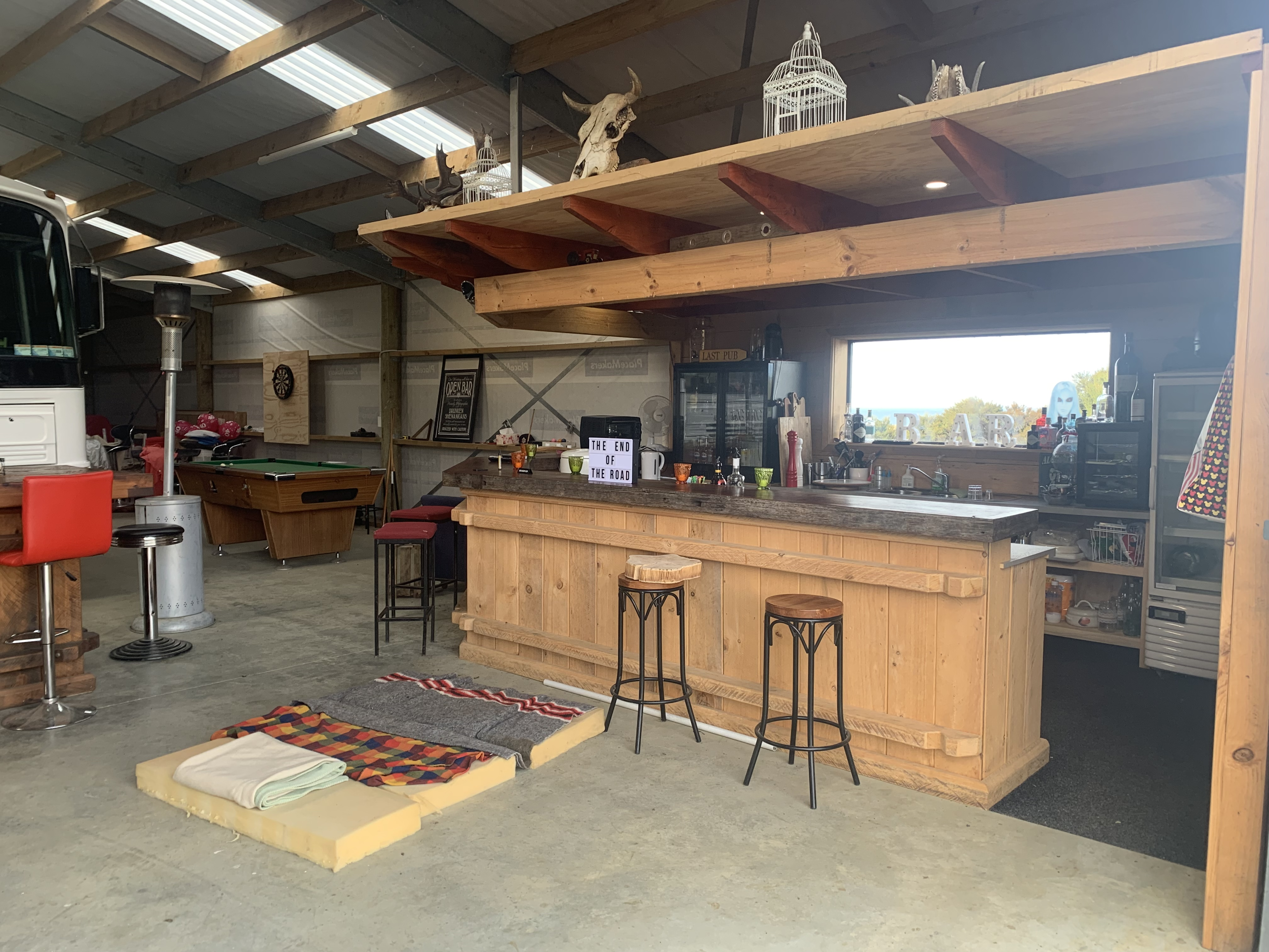 Hobby shed for spending time in