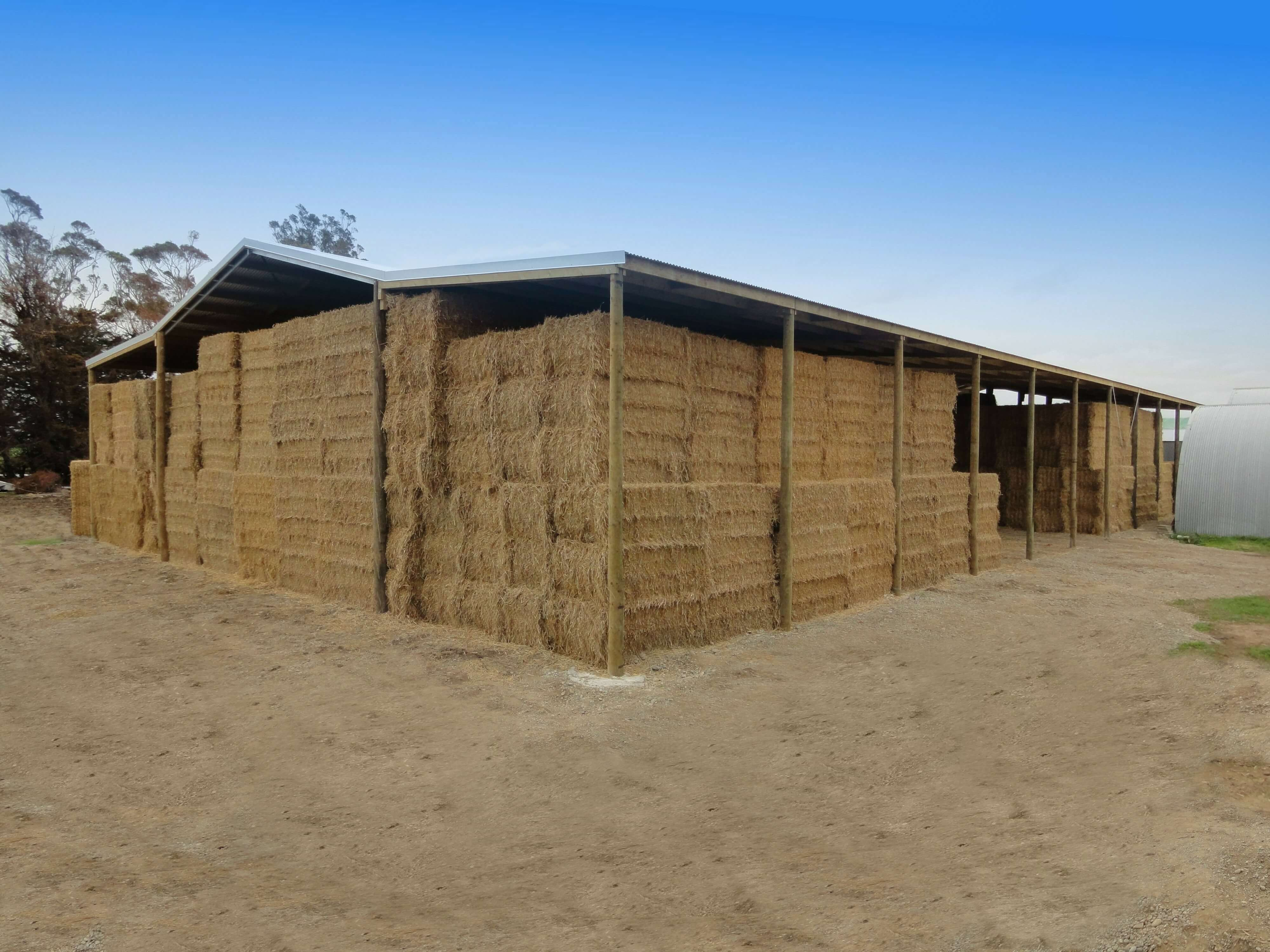 hay and straw storage shed