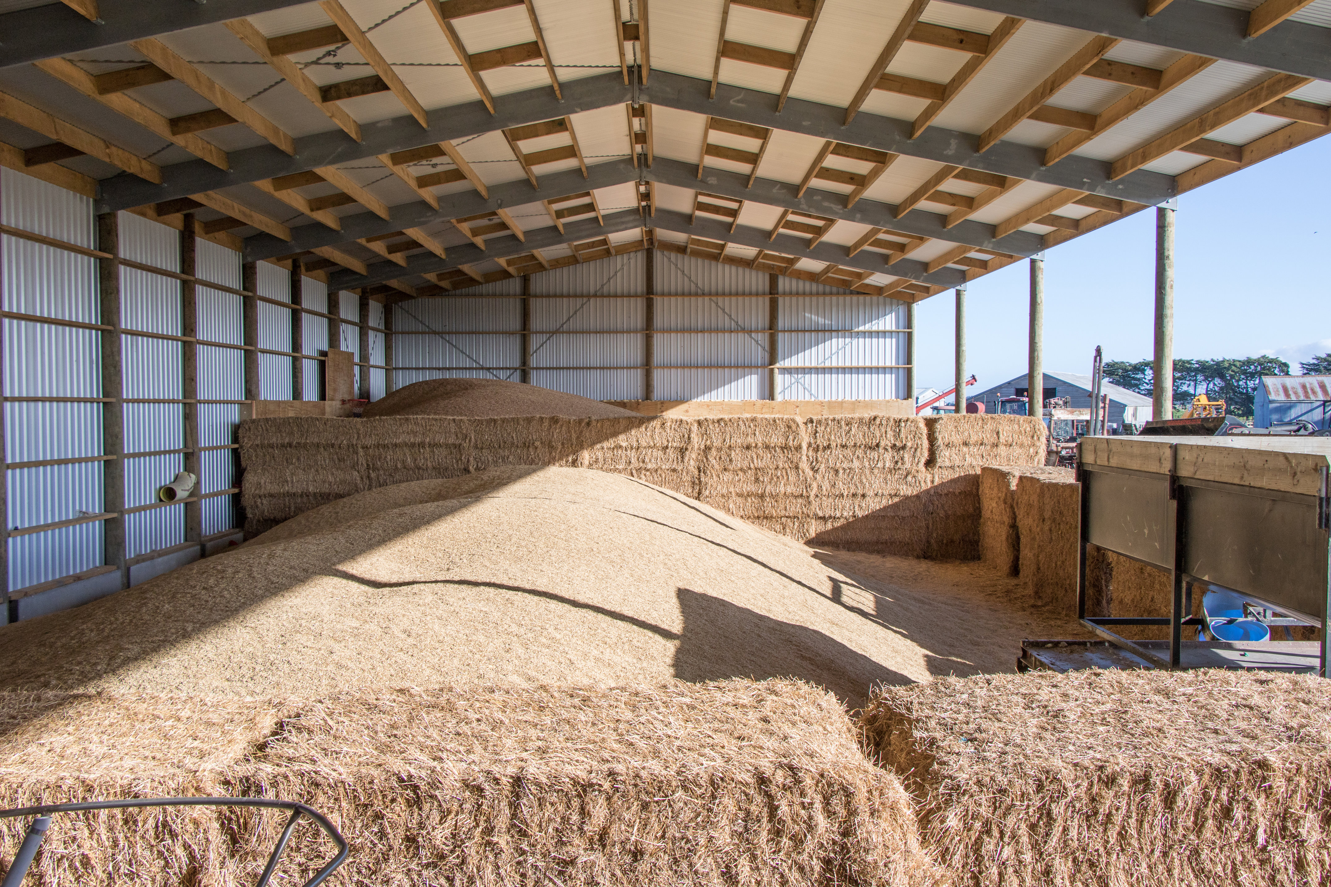 Examples of hay sheds