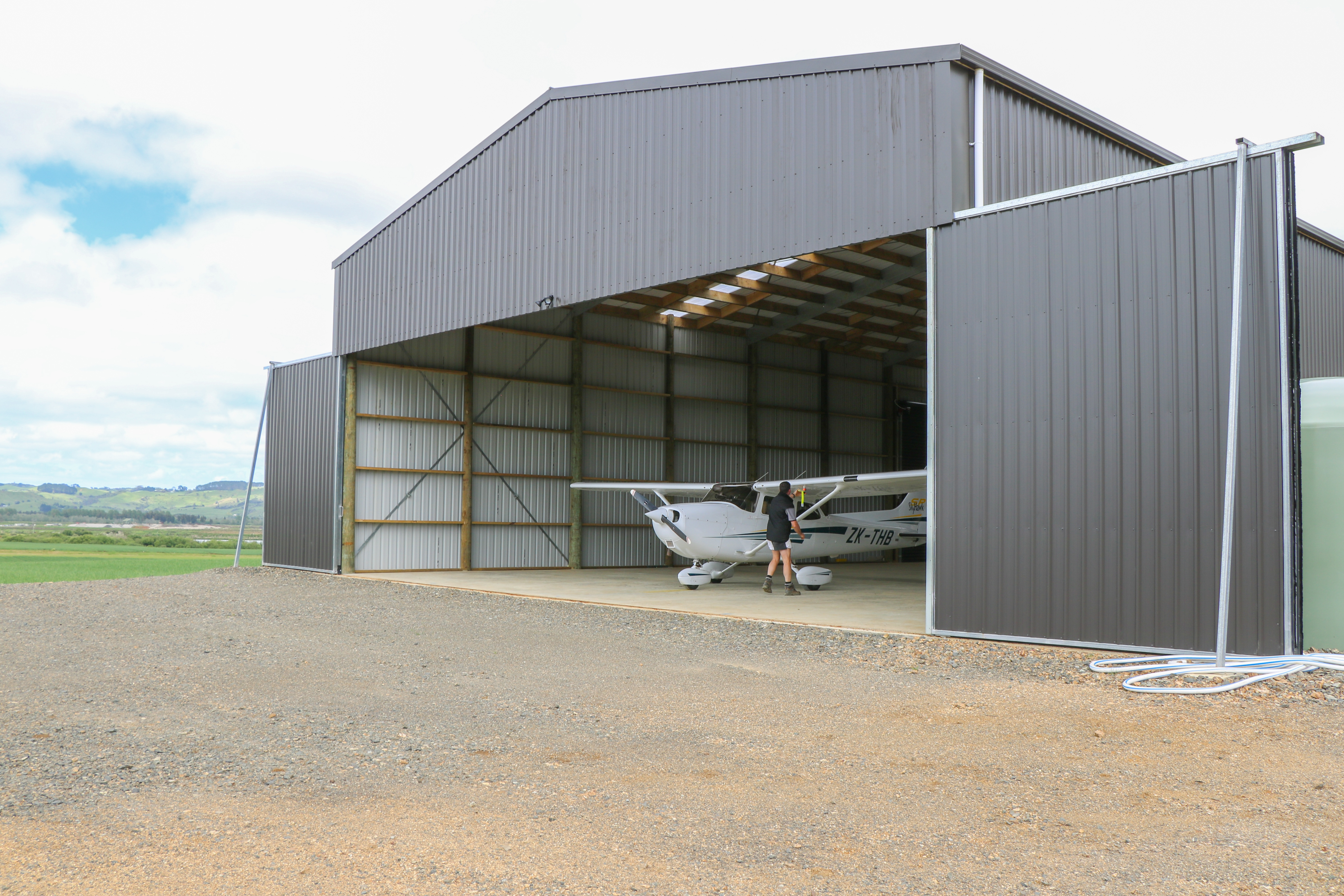 NZ hangar from Alpine Buildings