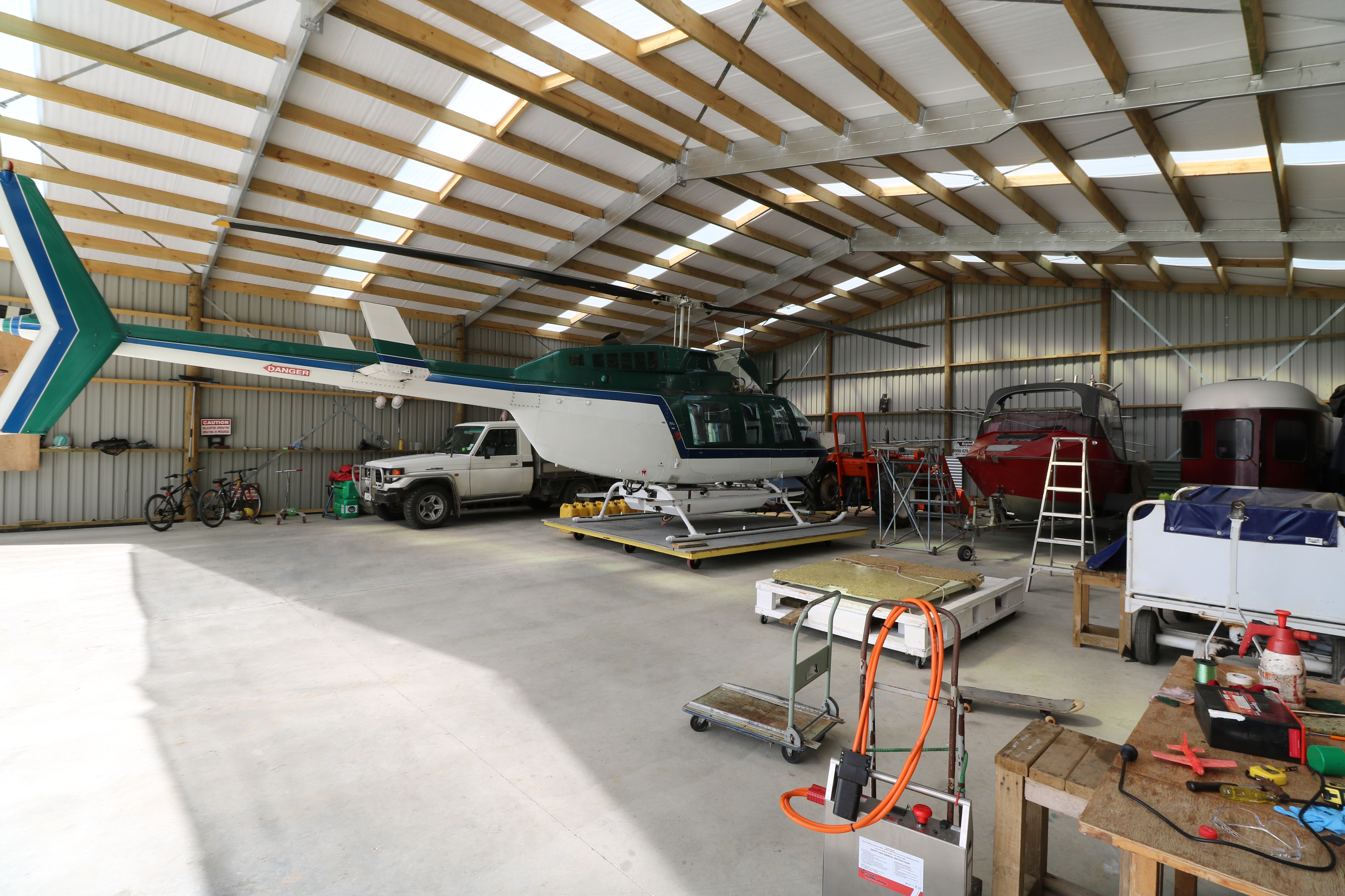 24m long aircraft hangar