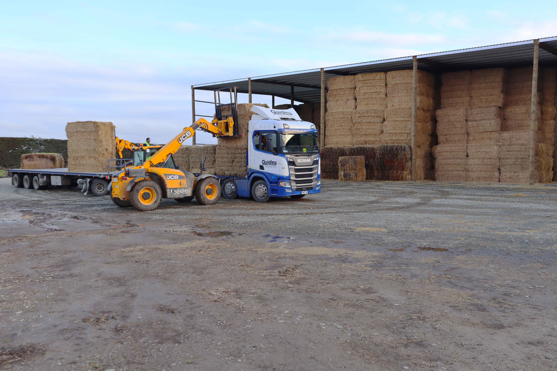 Large hay storage sheds