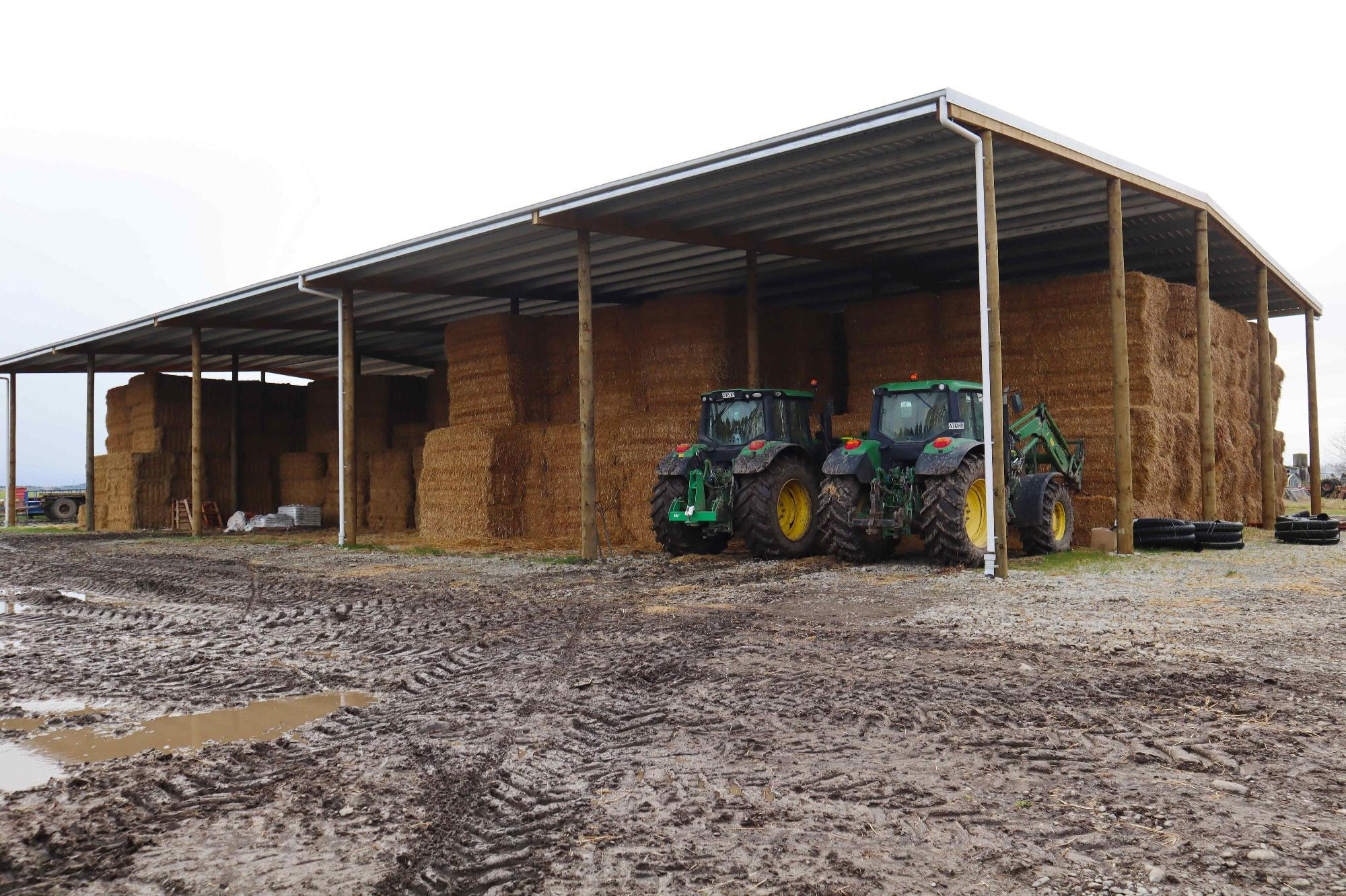 Steel purlin shed