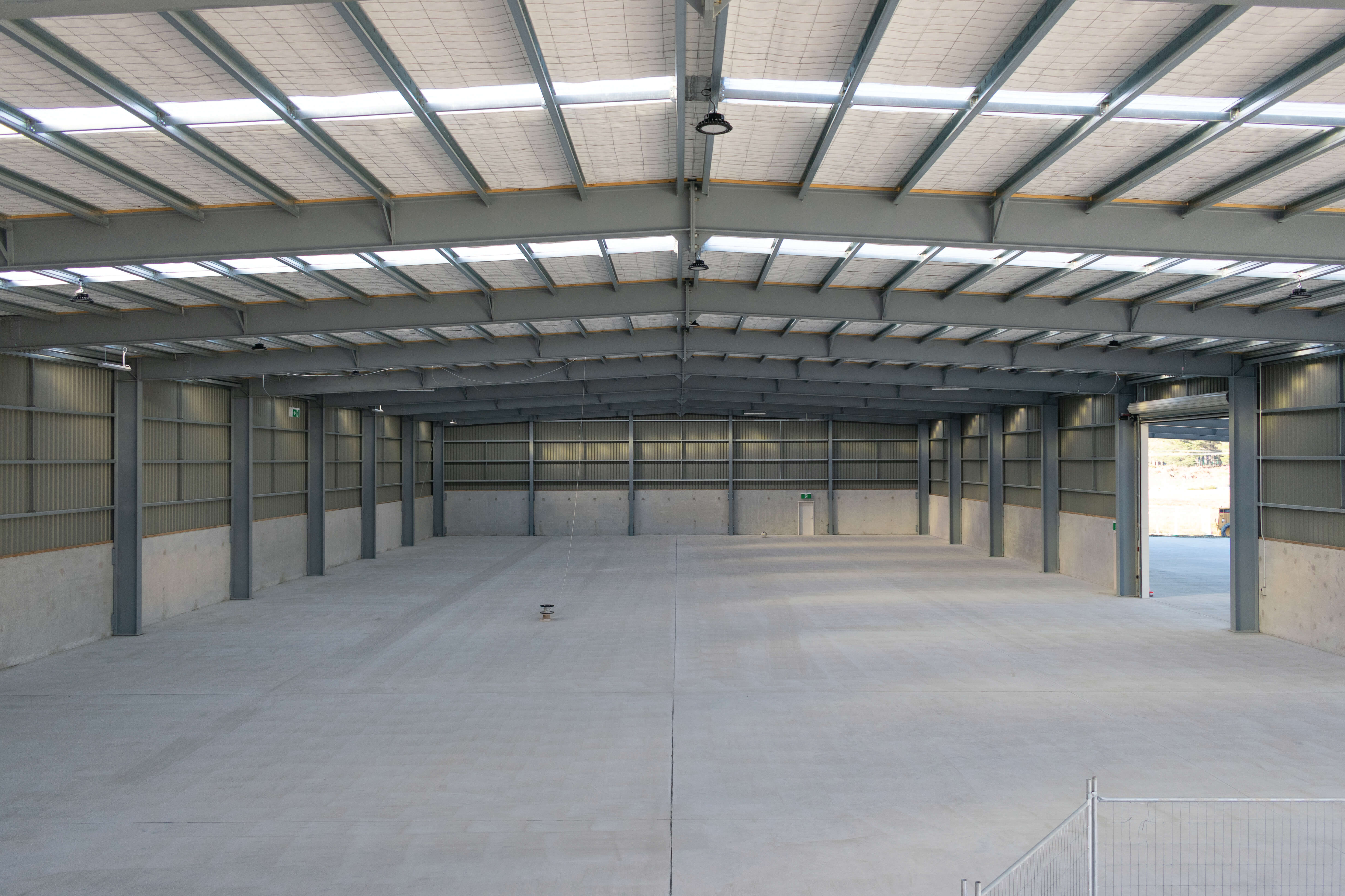 Commercial warehouse for freight and logistics.