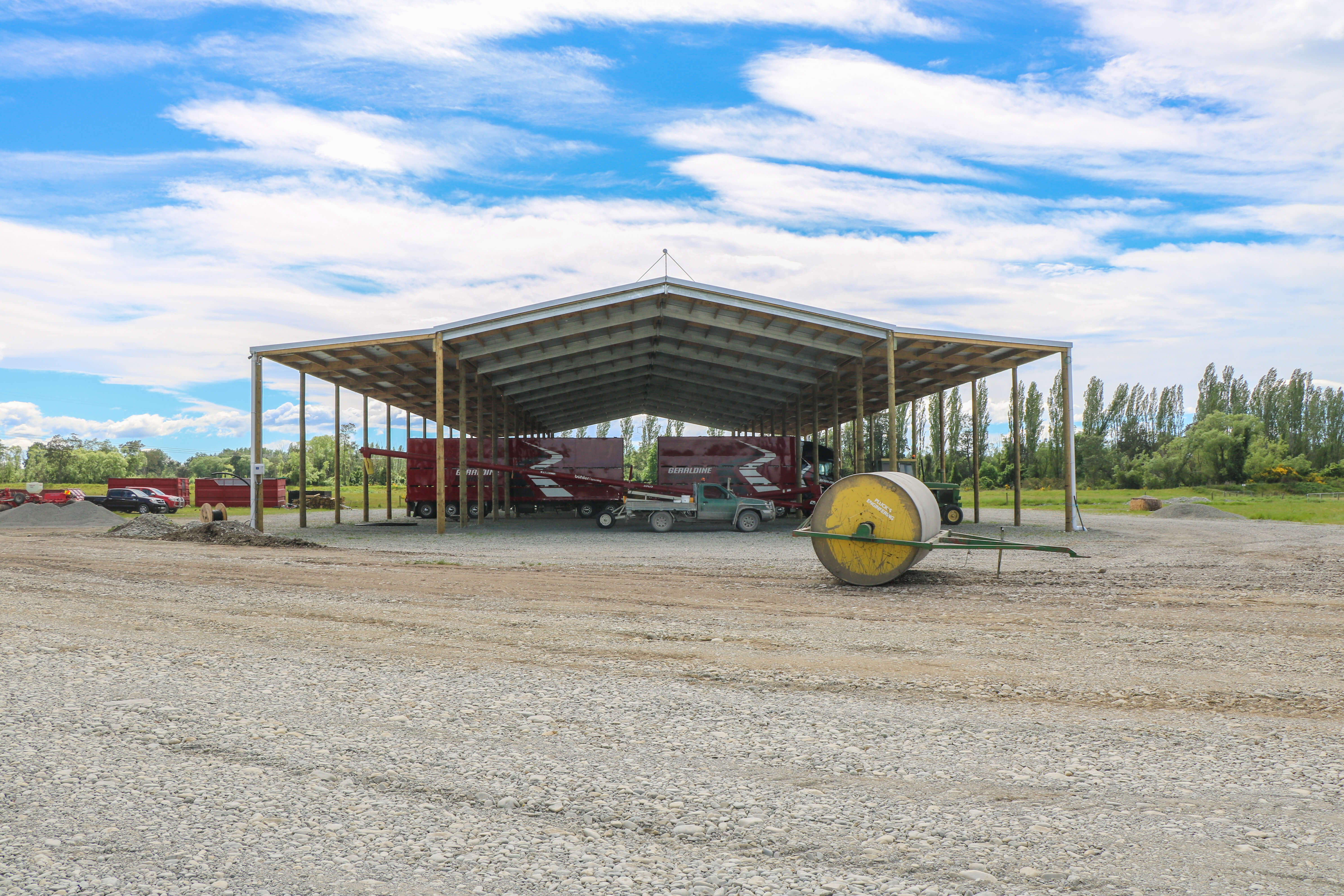 When harvest time comes could a hay shed be the solution?