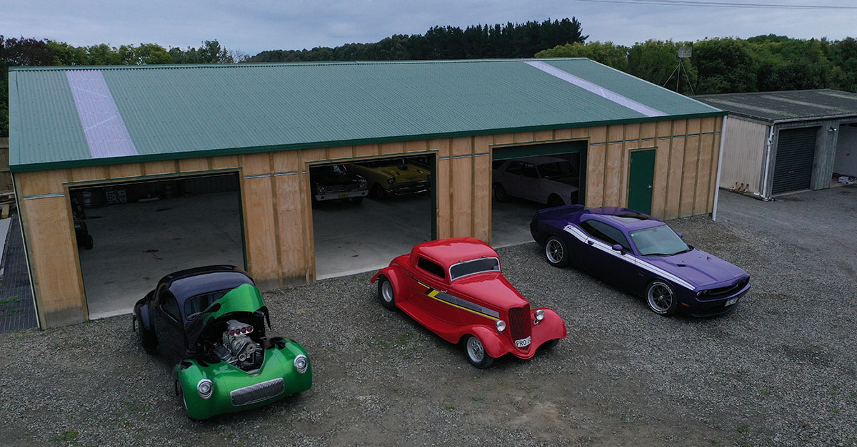 Custom-designed clearspan man cave to house classic cars