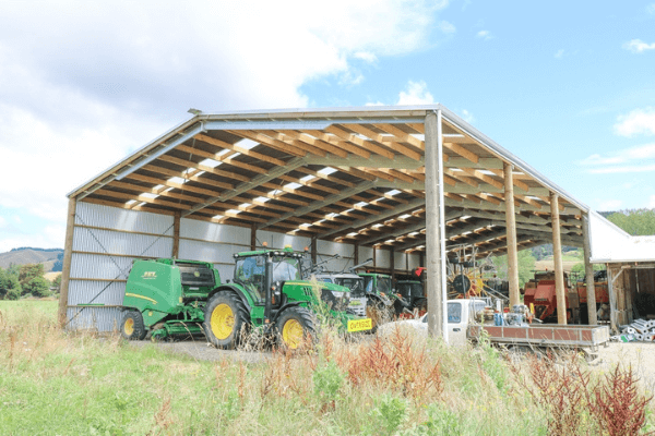 Our implement sheds will help you protect your farm machinery