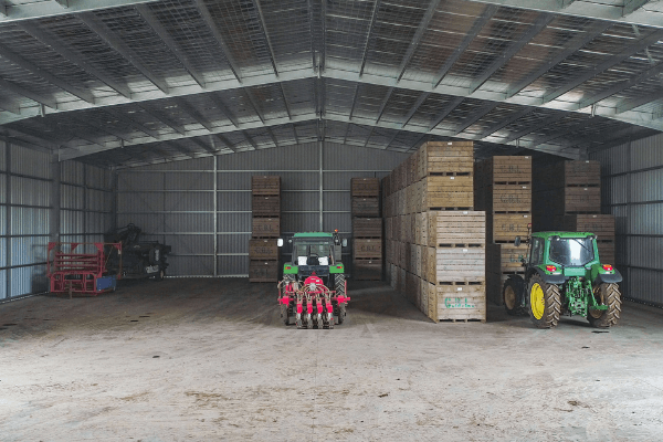 Our wide clearspans give you the most space possible to store your produce